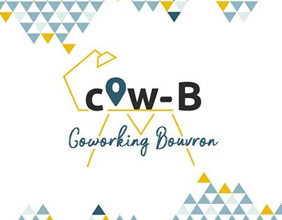 Identité visuelle du Cow-B, espace de coworking.