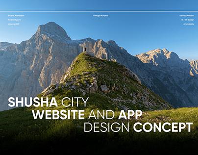 SHUSHA CITY \ website and app design concept \