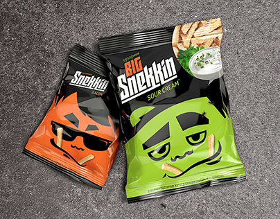 SNEKKIN CROUTONS PACKAGE DESIGN