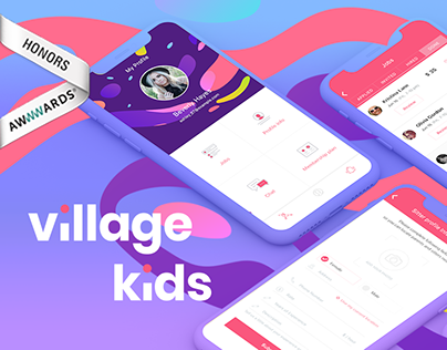 VK. Village Kids - freelancing & booking app