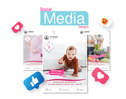 social media designs for Dr.Bahgat