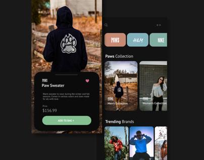 Clothing App Dark Mode
