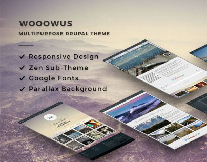 WOOOWUS - Premium Multipurpose Drupal Theme