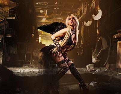 Fusão de Imagens | Black Angel