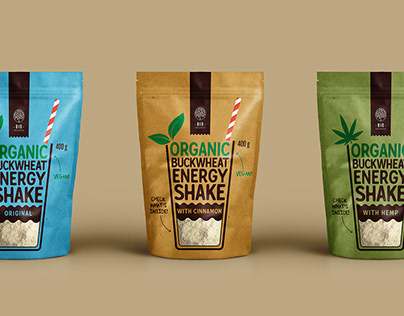 ORGANIC BUCKWHEAT ENERGY SHAKE PACKAGING