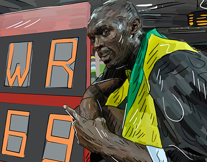Usain Bolt World Record Animation