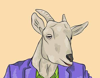 Working Goat | Illustration