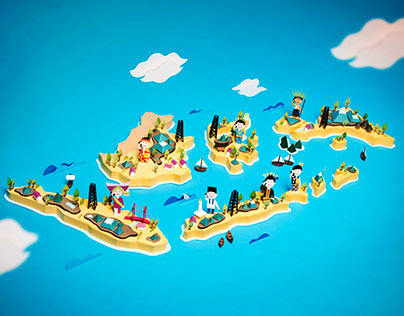 Indonesia Archipelago Papercraft