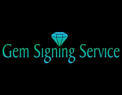 Gem Signing Service Branding & Landing Page