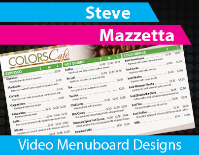 Video Menu Board Designs