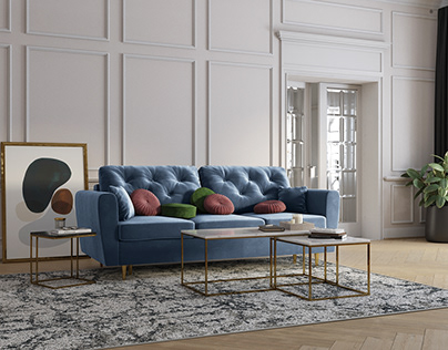 Carmen Sofa 3D Model + Interior