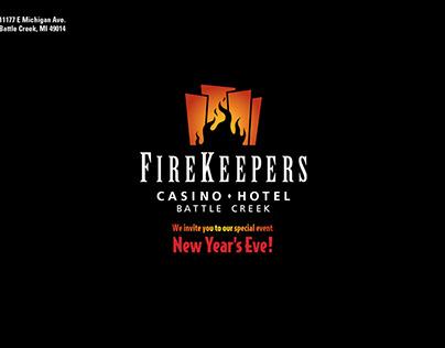 FireKeepers Casino Hotel New Year's Eve Invitation