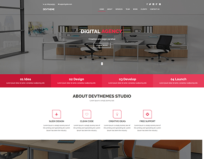 One page Parallax Responsive Website