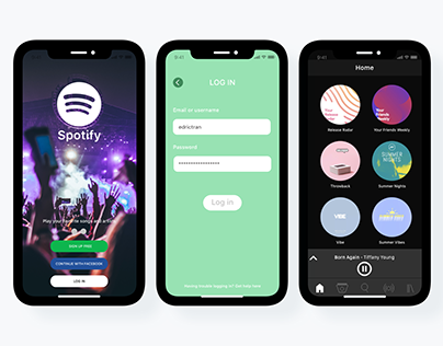 Re-improved Spotify App - Iphone X