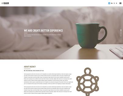 RAAM - One Page Multipurpose Agency