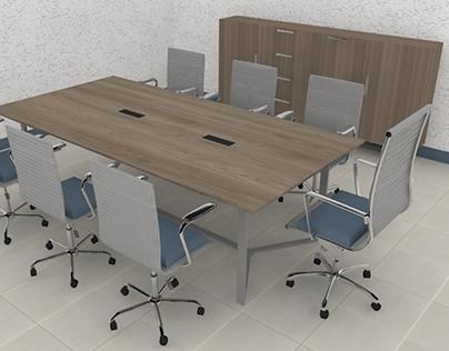 Credenza y Mesa sala de juntas para Tabel Mobiliario