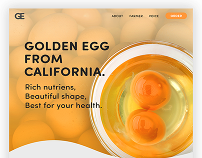 Egg Brand Landing page - Golden Egg From C.A