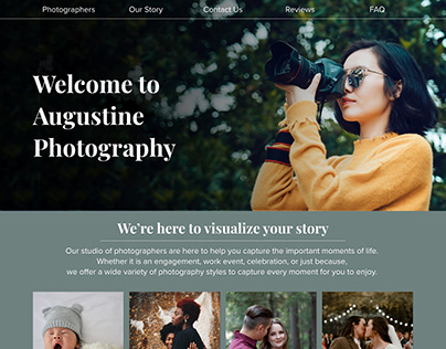 Augustine Photography Website Layout Mockup