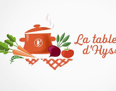 Design de logo - La table d'Hyssope