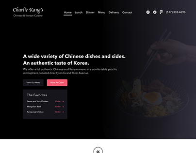 Charlie Kang's Website Redesign UI & Development