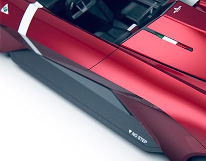 Alfa Romeo Duetto Stradale   Barchetta concept