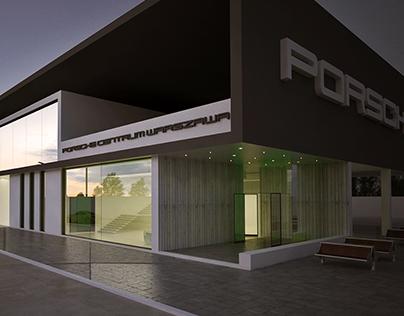 salon Porsche koncepcja