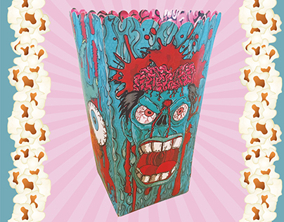 Zombie Popcorn Box