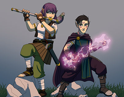 Two halflings (DnD commission)