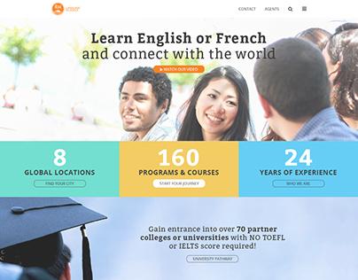 ILSC Education Group—Front End Website Design