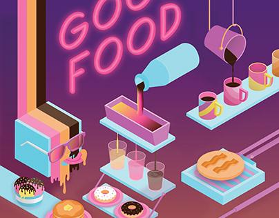 Illustration  GOOD FOOD breakfast