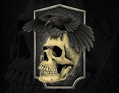 Death Crow Illustration (artwork for sale)