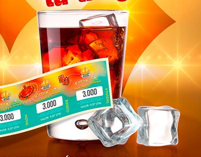 Tu entrada Tu trago - Casino promoción