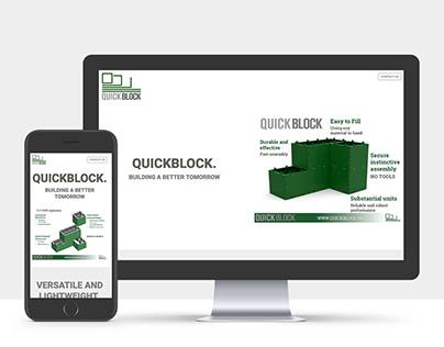 Quickblock identity and site design