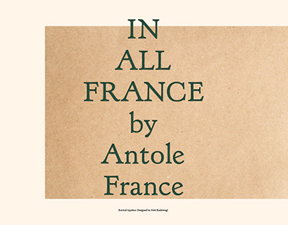 France: Revival Typeface