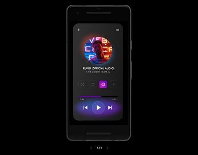 UI Media Player Glassmorphism