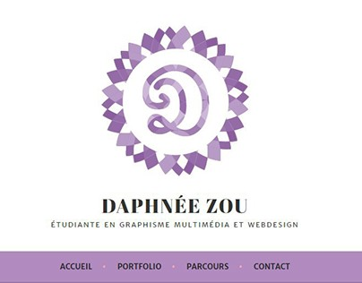 [WIP] Site Web Daphnée Zou Graphist - Wordpress