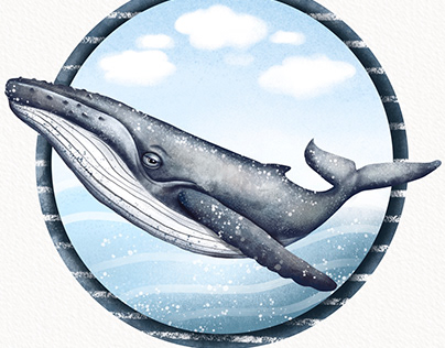 Blue whale (potisk na tričko)