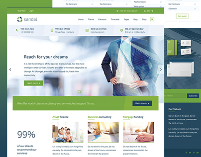 Sandal - Finance & Consultancy Business Template