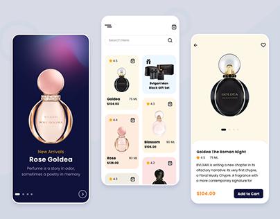 Perfumes eCommerce App Store Design