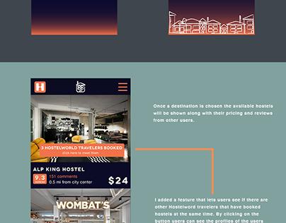 Hostelworld App Design
