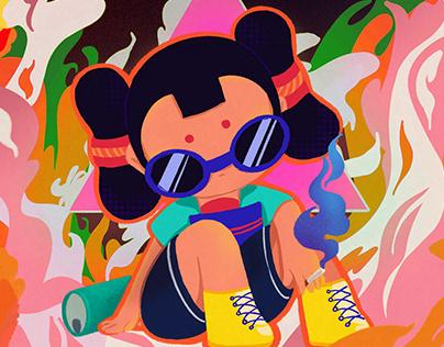 BUCAI - Little girl's expression design & illustration