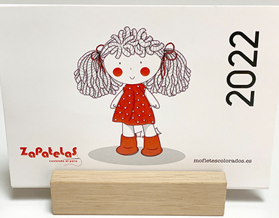 Calendario solidario Zapatelas Cosiendo el Paro