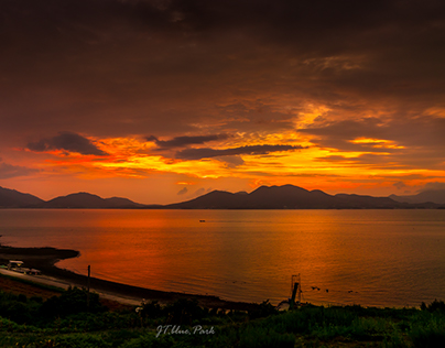 Sunset of NamHae in Korea