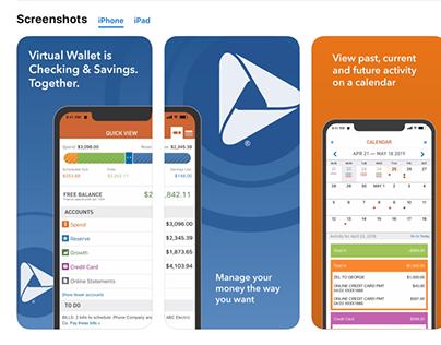 Virtual Wallet App Store Images
