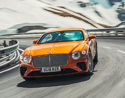 Orange Bentley Continental GT