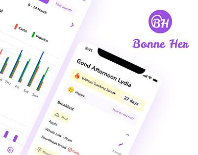 Bonne Her - Tracking app for Gestational Diabetes