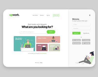upwork - redesign