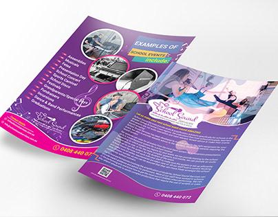 Music Leaflet design
