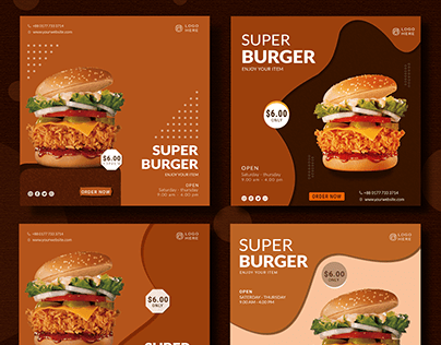 Social media post   Food banner   Burger post