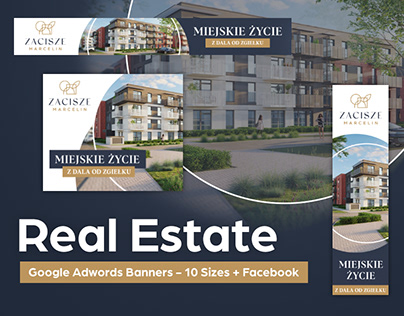 Real Estate - Google Adwords Banners - 10 Sizes + FB